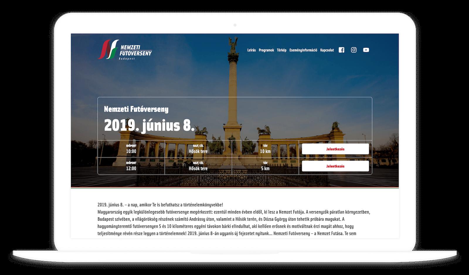 Nemzeti Futóverseny desktop verzió