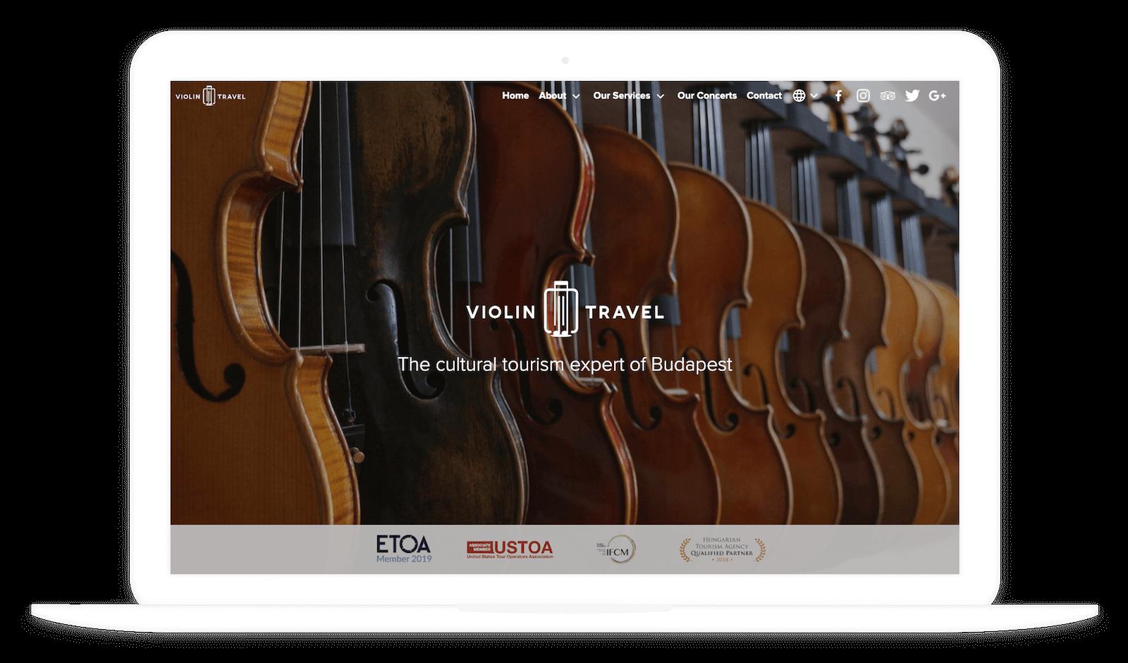 Violin Travel desktop verzió