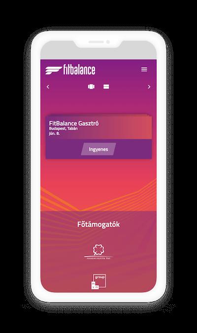 FitBalance mobil verzió