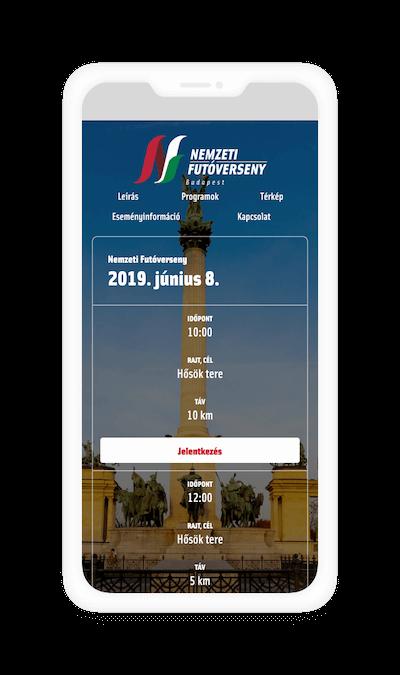 Nemzeti Futóverseny mobil verzió