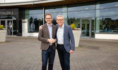 Nya vdn för Skaraborg Invest Per Skånberg och avgående vd Carl Henrik Ohlsson