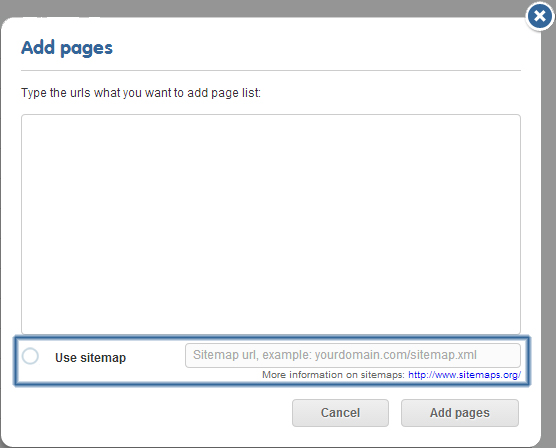 Paste the link to your sitemap.xml, and have Easyling crawl only the pages others can see!