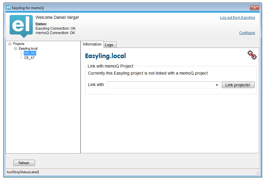 Easyling memoQ connector