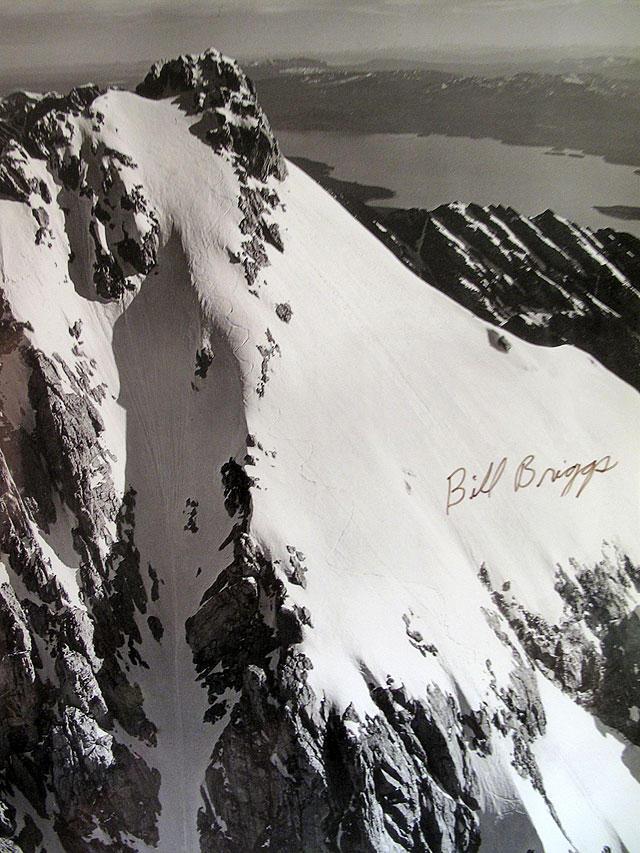 Bill Brigg's tracks - Grand Teton First Descent