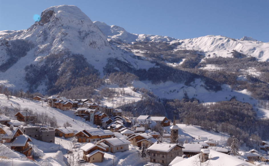 ski chalets in the resort of combloux
