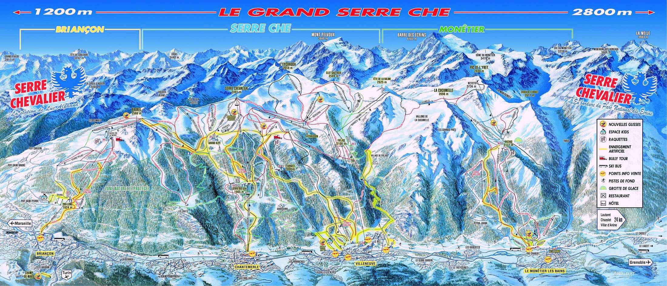 Serre Chevalier Piste Map