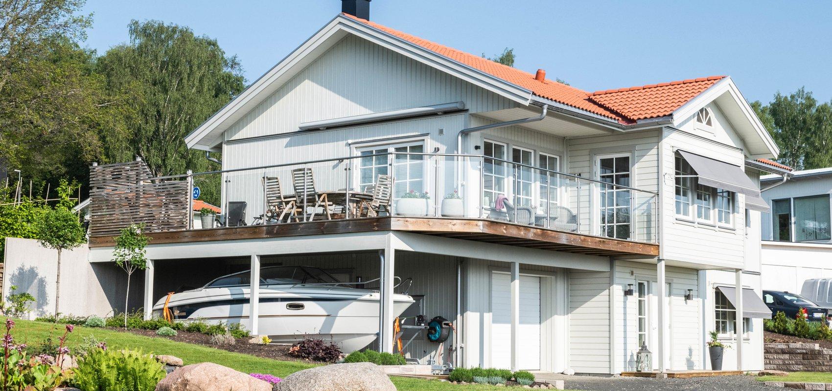 Villa Jansson – terrass sluttnigshus