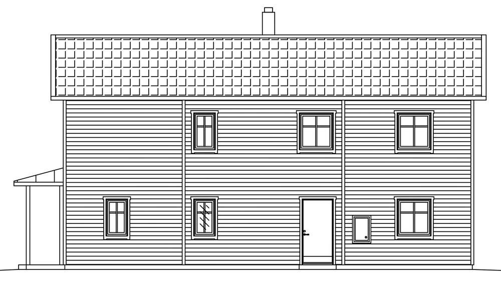 Villa Agder – fasad groventré