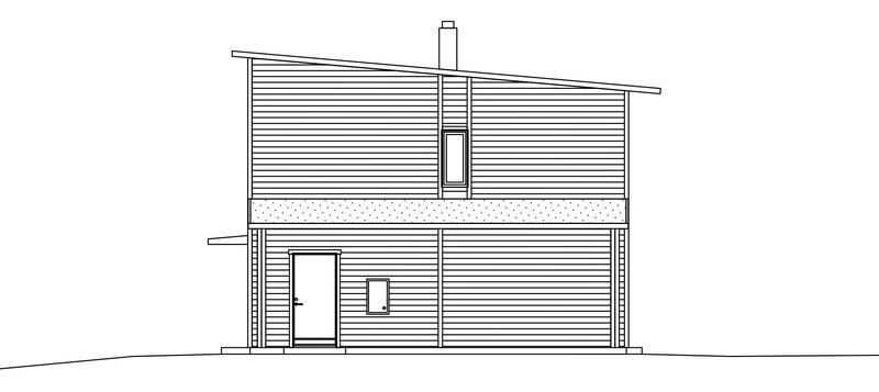 Villa Berling – fasad garage entré