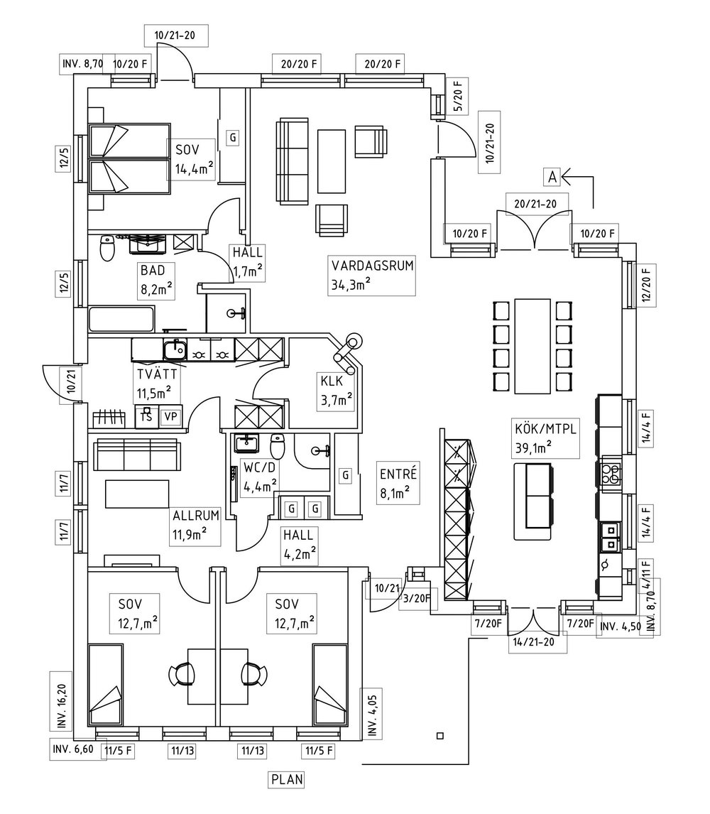 Villa Borg – planlösning