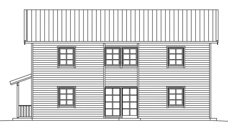 Villa Dahlstrand – fasad  baksida