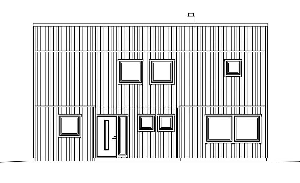 Villa Elofsson – fasad entré