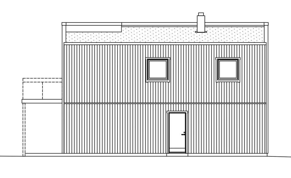 Villa Elofsson – fasad groventré