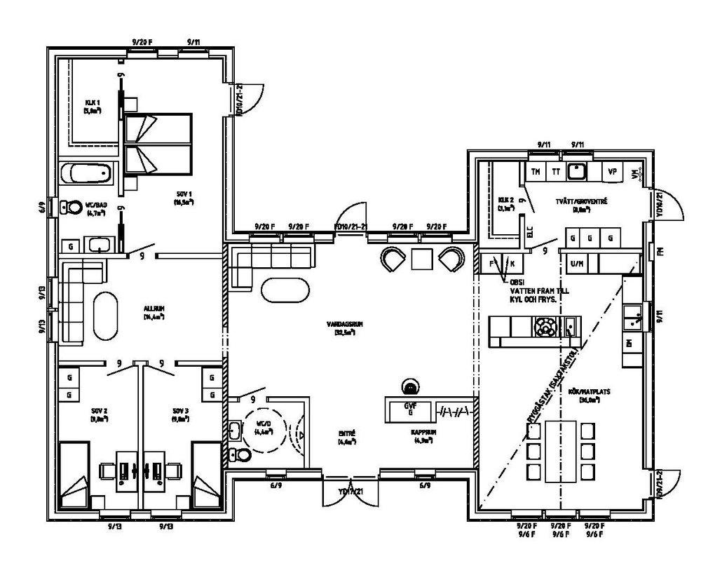 Villa Gorner – planlösning