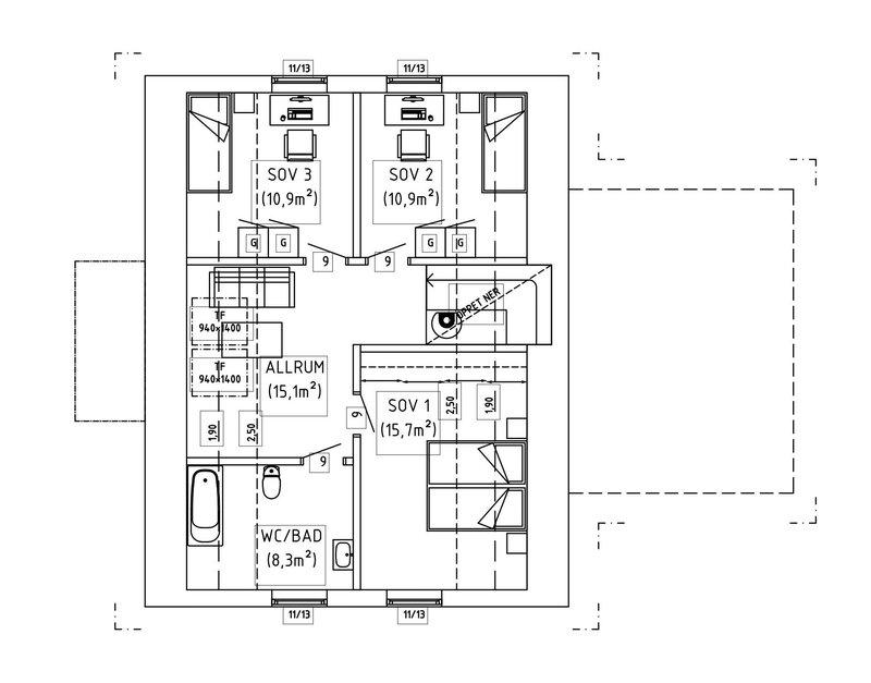 Villa Hansson – planlösning överplan