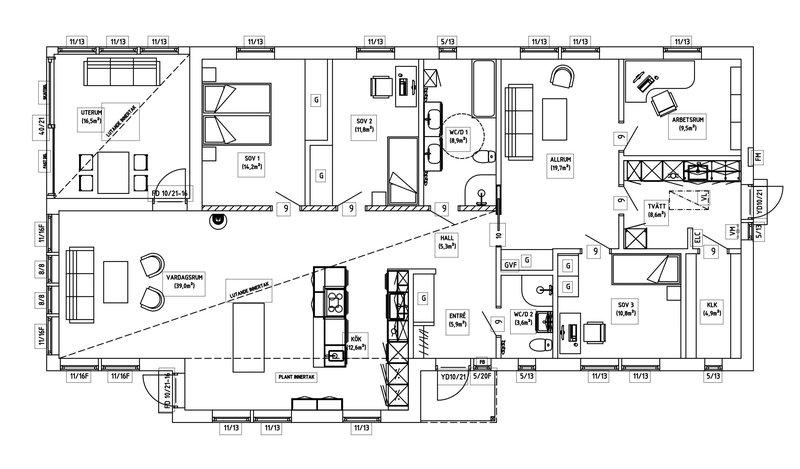Villa Josefsson – planlösning