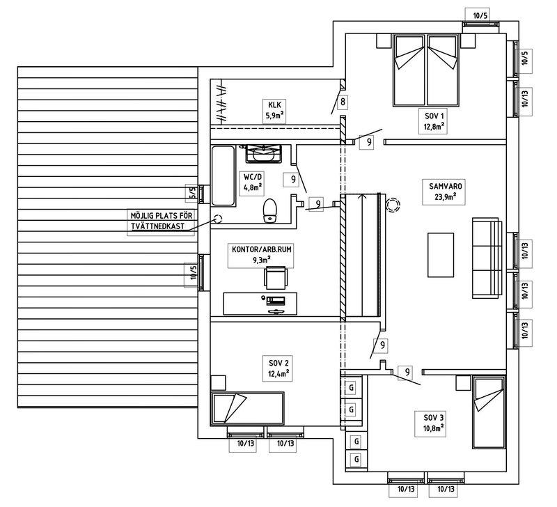 Villa Häggholm — Andra Våning