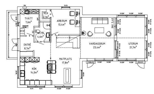 Villa Lindblad entréplan