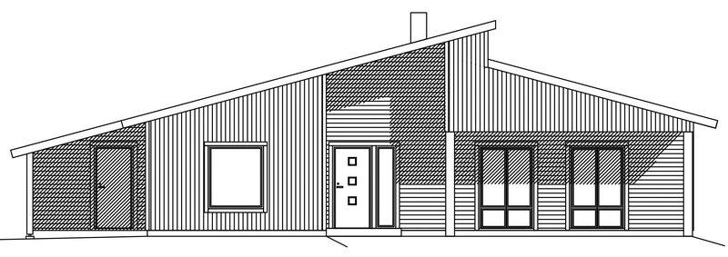 Villa Nyström – fasad entré