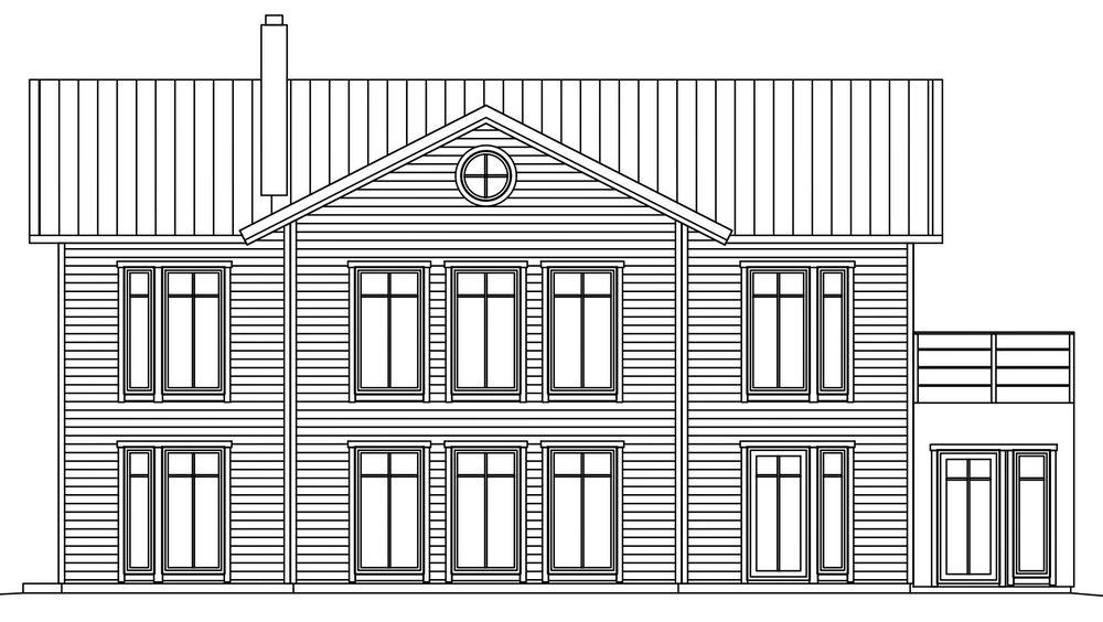 Villa Olsson – fasad 3 baksida