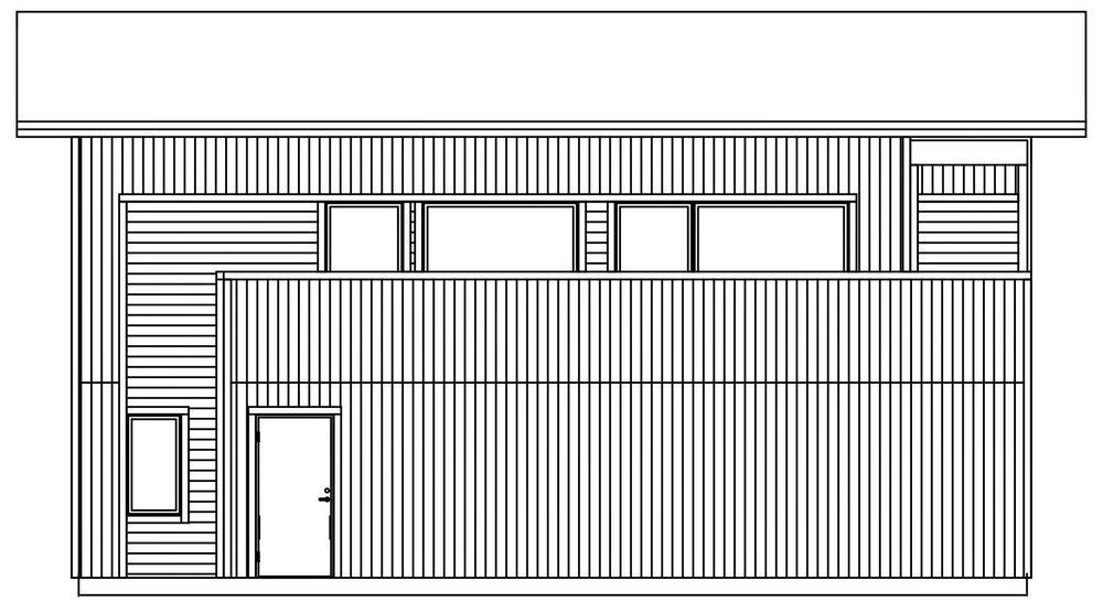 Villa Rånes – fasad 4 groventré