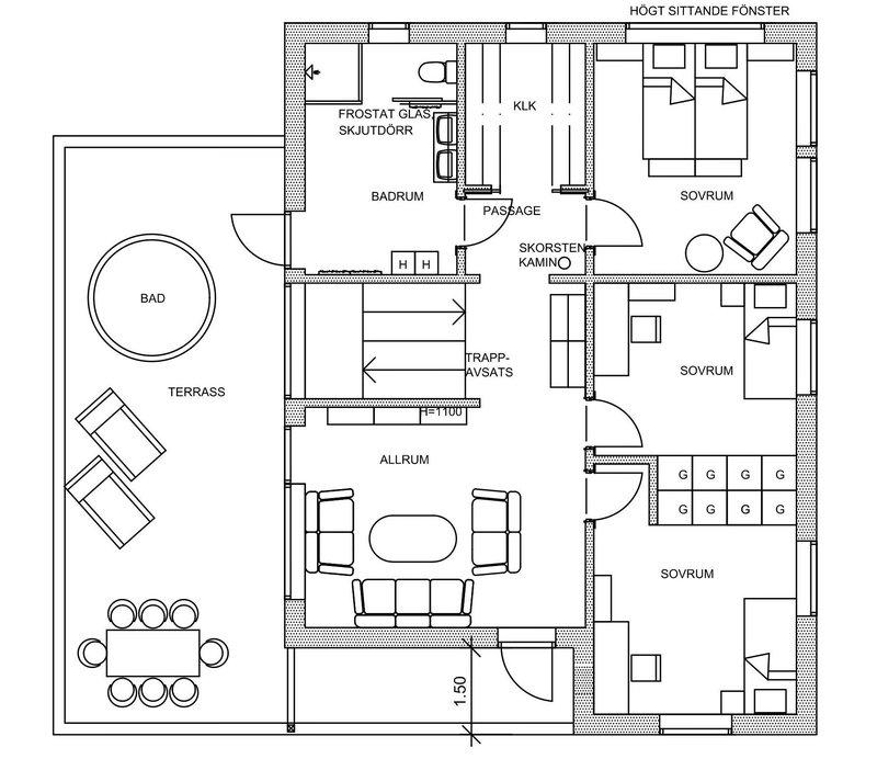 Villa Rånes – planlösning överplan
