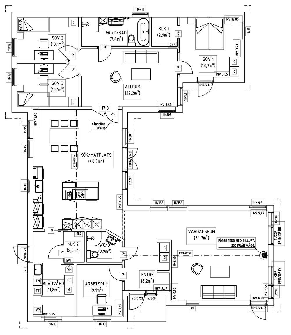 Villa Wärn – planlösning