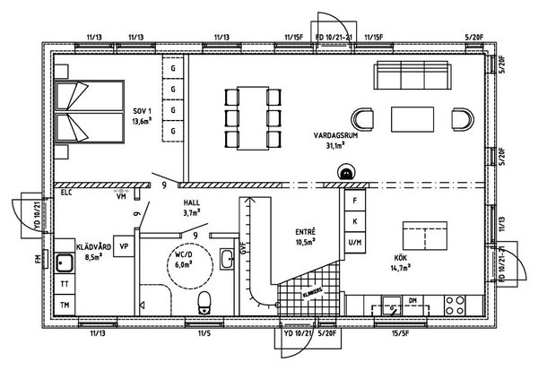 Villa Wejshag entréplan