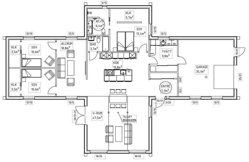 Villa Wejsbergh – planlösning