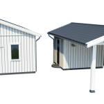 Singelhus med carport