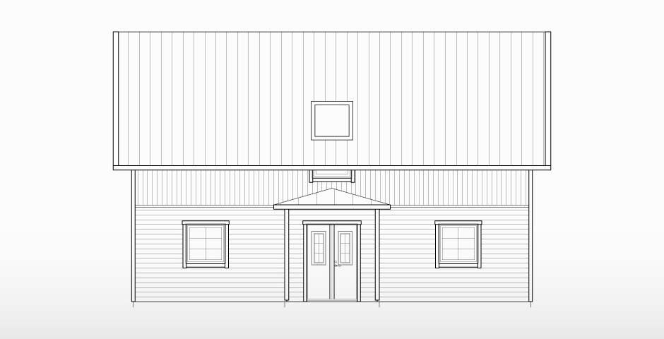 Villa Bergman, 1,5 planshus med förhöjt väggliv