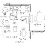 Planritning från första våning, 2-planshus