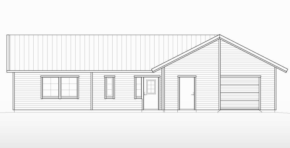 Villa Lidholm enplanshus med inbyggd garage