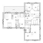 Planlösning på enplanshus