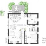 Planlösning, övre plan - Sluttningshus Villa Skövde från Skövdevillan
