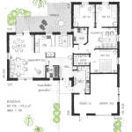 Arkitektritad planlösning på Villa Varnhem från Skövdevillan