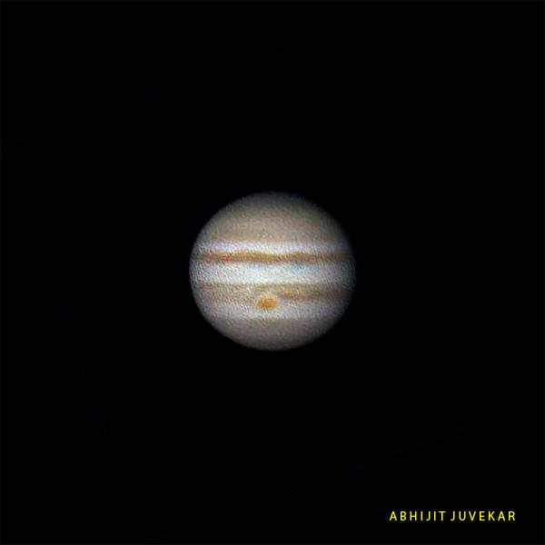 Jupiter using Sky-watcher 6 inch Dobsonian Telescope