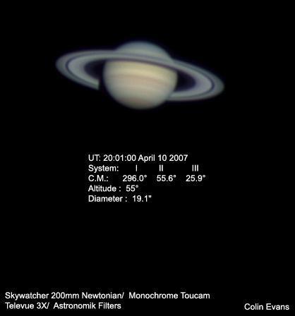 Saturn April 10 2007 LRGB