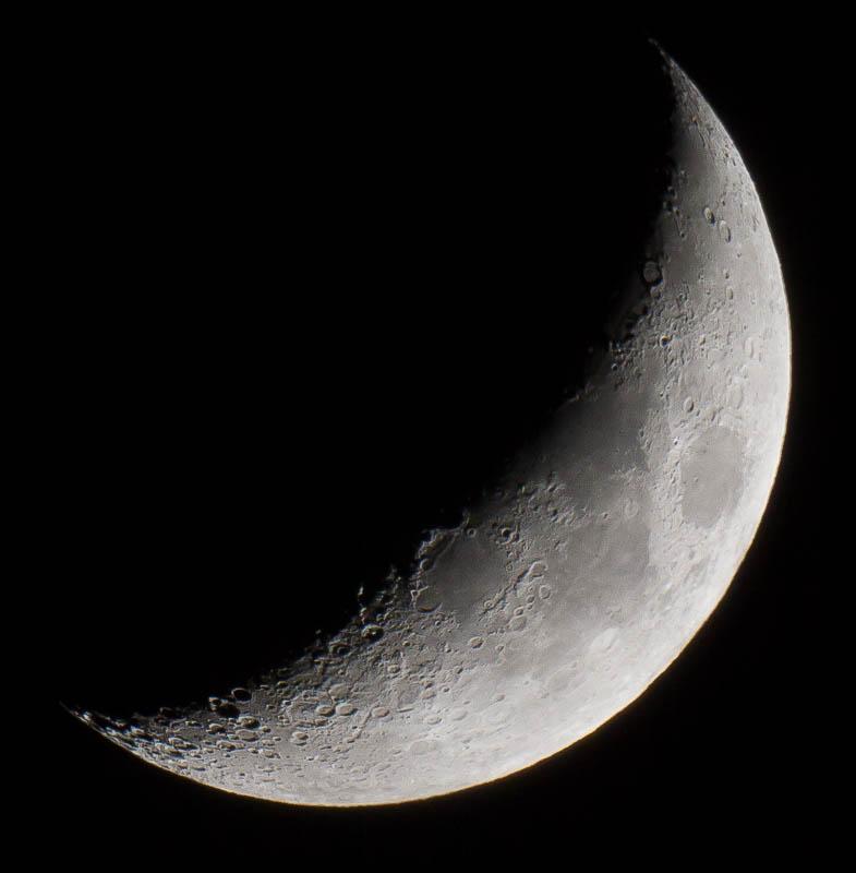 1/4 moon