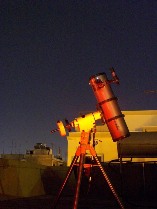 Skywatcher telescope set up