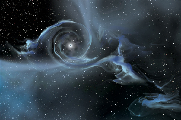 First-ever Picture of a Black Hole in the Making