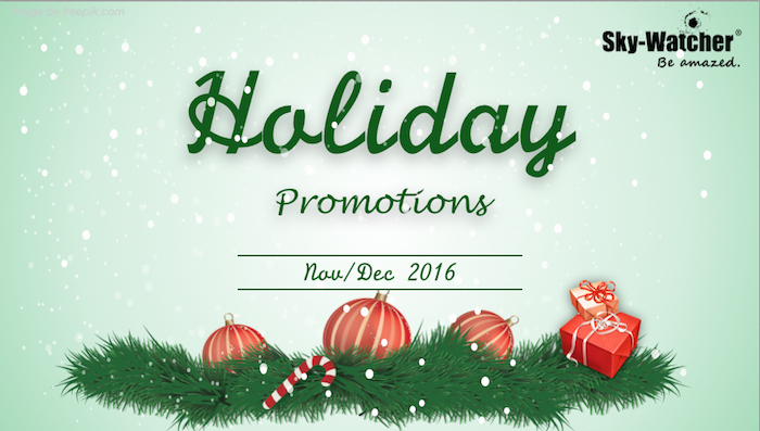Holiday Promotion Nov/Dec 2016 (Expired)