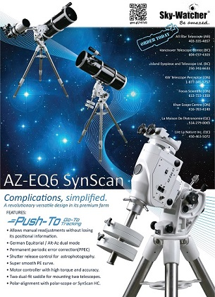 All New AZ-EQ 6 SynScan Advertisement in SkyNews