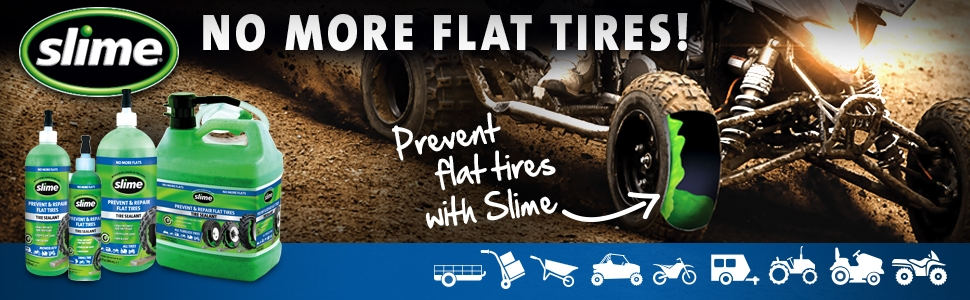 No More Flats with Slime Prevent and Repair Tire Sealant
