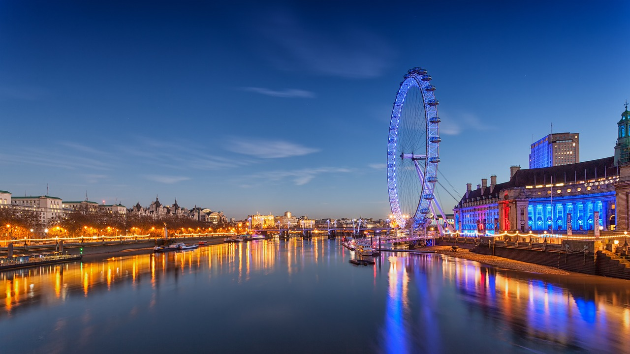 panoramic scene of London Eye