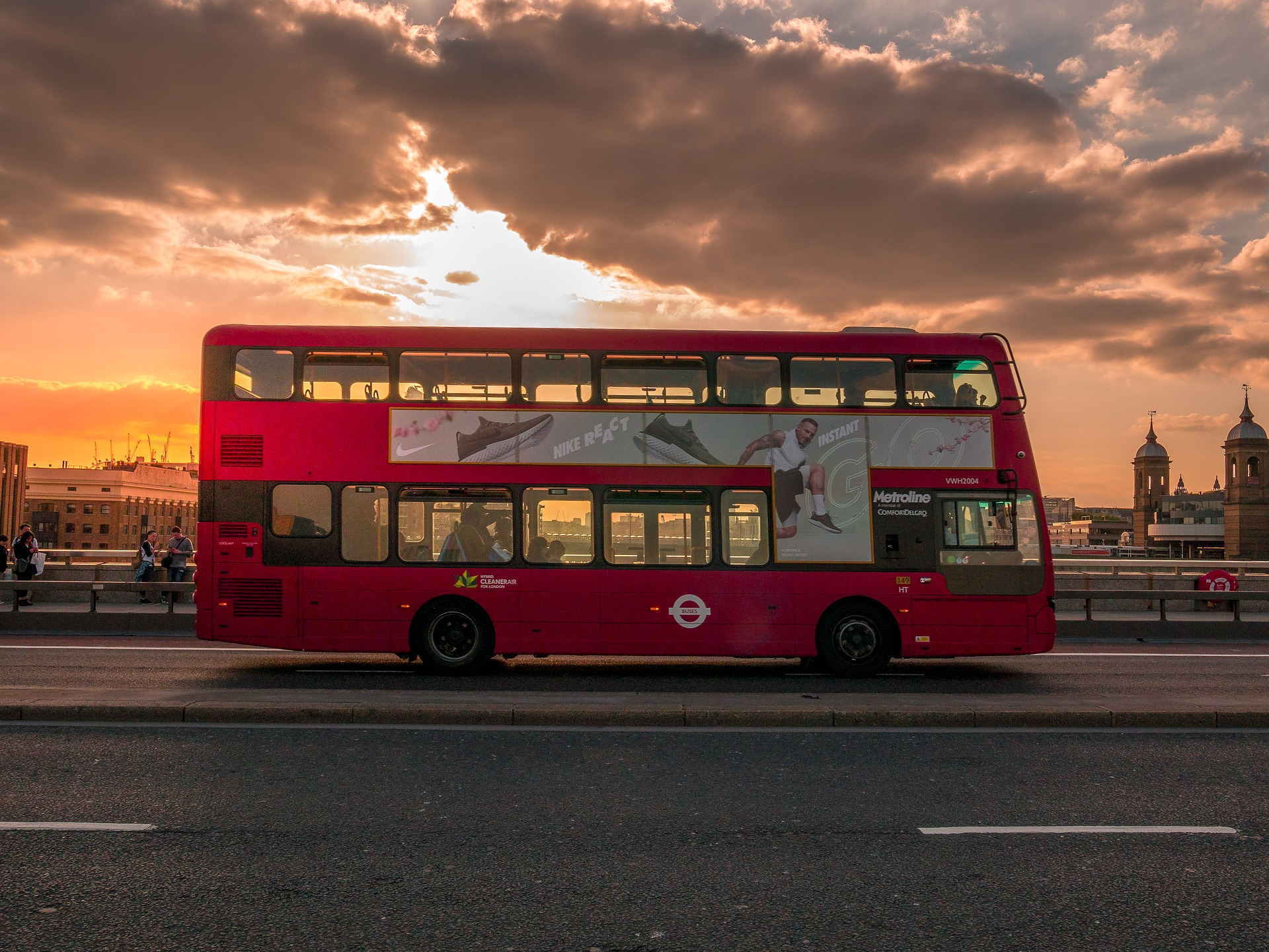 Travel via bus transport in London