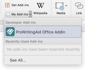 word for mac prowritingaid add in