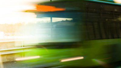 Ruter grønn buss