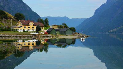 Hyefjorden Gloppen Nordfjord Vestlandet