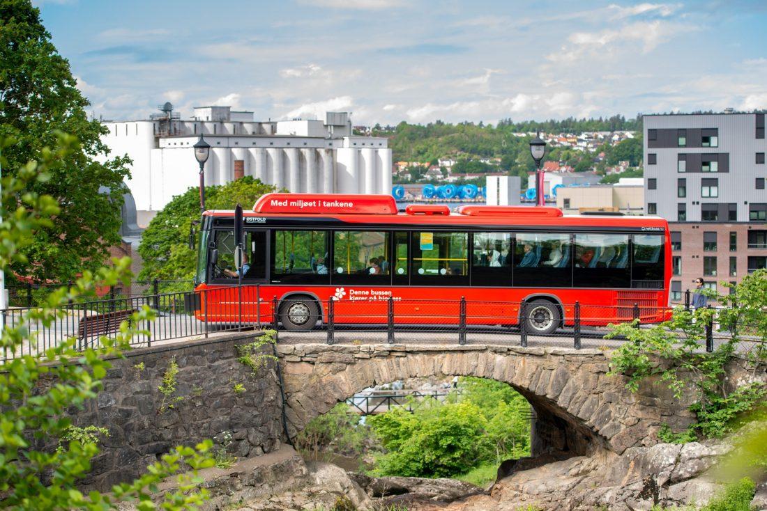 biogass buss Østfold kollektivtransport
